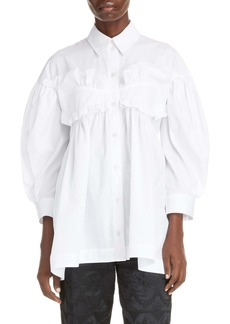 Simone Rocha Cotton Poplin Ruffle Shirt