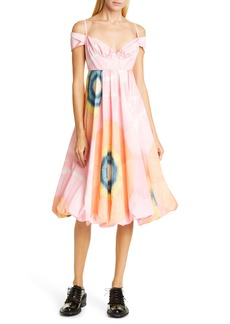 Simone Rocha Dawn Off the Shoulder Taffeta Dress
