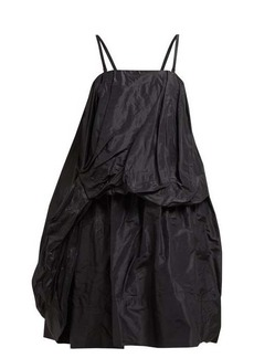 Simone Rocha Draped silk-taffeta midi dress