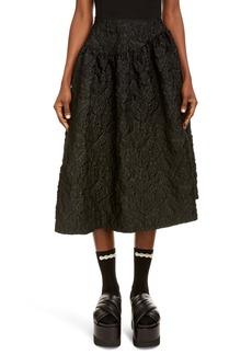 Simone Rocha Floral Cloqué Asymmetrical Skirt