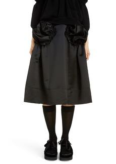 Simone Rocha Gathered Pocket Belted Satin Skirt