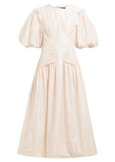 Simone Rocha Gigot-sleeve taffeta midi dress