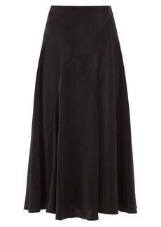 Simone Rocha High-rise bias-cut silk-satin midi skirt
