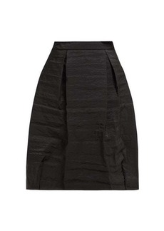 Simone Rocha High-rise pleated taffeta midi skirt