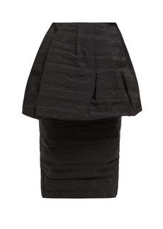 Simone Rocha Peplum taffeta high-rise pencil skirt