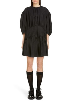 Simone Rocha Pintuck Pleat Cotton Poplin Minidress