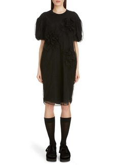 Simone Rocha Ruched Flowers T-Shirt Dress