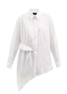 Simone Rocha Ruffled asymmetric cotton-poplin shirt