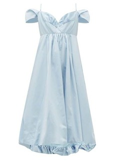 Simone Rocha Ruffled taffeta midi dress