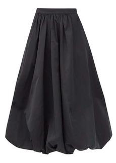 Simone Rocha Sash-waist taffeta bubble-hem skirt