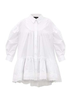 Simone Rocha Scalloped-trim gathered cotton blouse