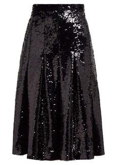 Simone Rocha Sequinned pleated midi skirt