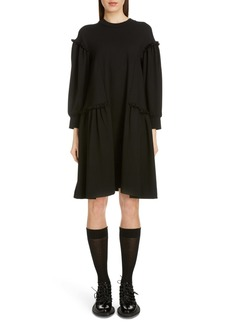 Simone Rocha Side Frill Long Sleeve Jersey Dress