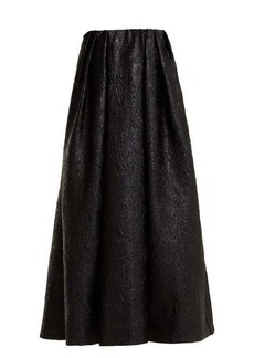 Simone Rocha Strapless crinkled-effect taffeta dress