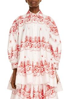 Simone Rocha Tiered Embroidered Shirt