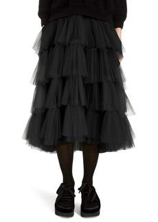 Simone Rocha Tiered Tulle Tutu Midi Skirt