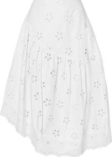 Simone Rocha Woman Asymmetric Broderie Anglaise Cotton Skirt White