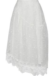 Simone Rocha Woman Embroidered Tulle Midi Skirt Ivory