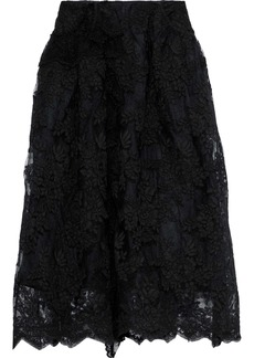 Simone Rocha Woman Scalloped Lace Midi Skirt Black
