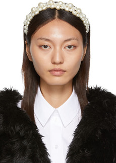 Simone Rocha White Cluster Baroque Hairband