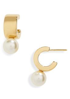 Women's Simone Rocha Imitation Pearl Mini Hoop Earrings