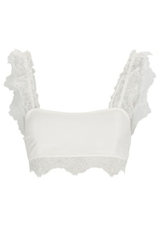 SIR the label Alma Lace-Trimmed Crop Top
