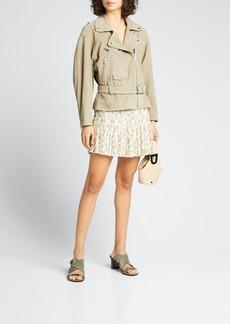 SIR The Label Alba Pleated Mini Skirt