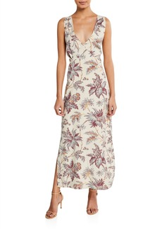 SIR The Label Avery Floral-Print Maxi Slip Dress