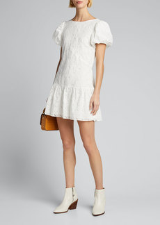 SIR The Label Elodie Embroidered Mini Dress