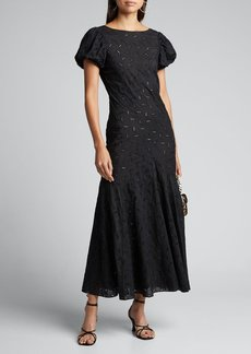 SIR The Label Elodie Paneled Eyelet Gown