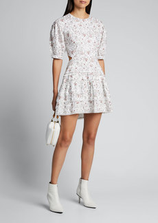 SIR The Label Haisly Floral-Print Mini Dress