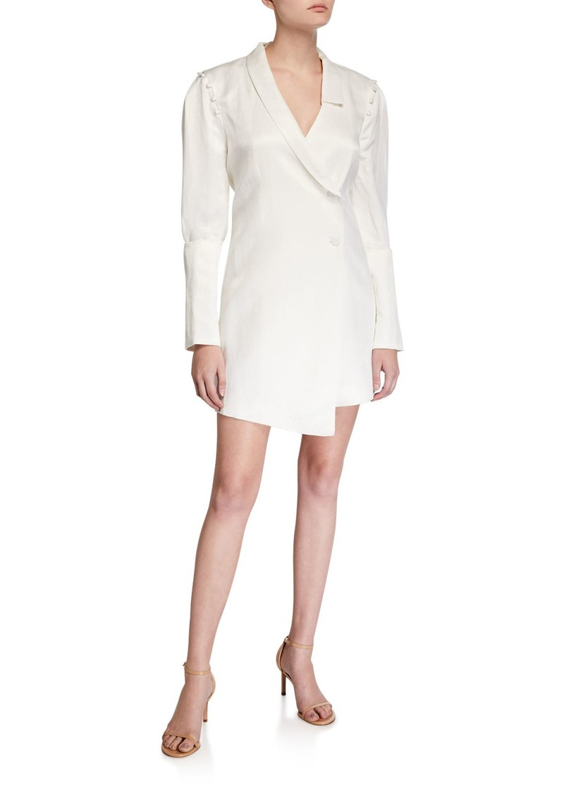 SIR The Label Inez Asymmetric Tailored Linen Dress