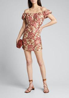 SIR The Label Valetta Off-Shoulder Mini Dress