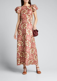 SIR The Label Valetta Puff-Sleeve Gown