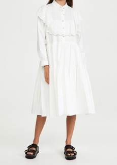 Sister Jane Doily Ruffle Midi Dress