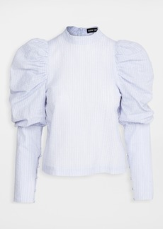 Sister Jane Liberty Line Puff Sleeve Blouse