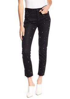 Siwy Gaby Raw Edge Faux Pearl Embellished Jeans
