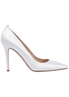 SJP 100mm Fawn Satin Pumps