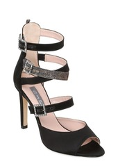 SJP 100mm Fugue Strappy Satin Sandals