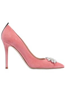 SJP 100mm Tavi Embellished Suede Pumps