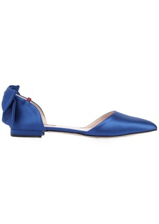 SJP 10mm Awaken Bow Satin D'orsay Flats