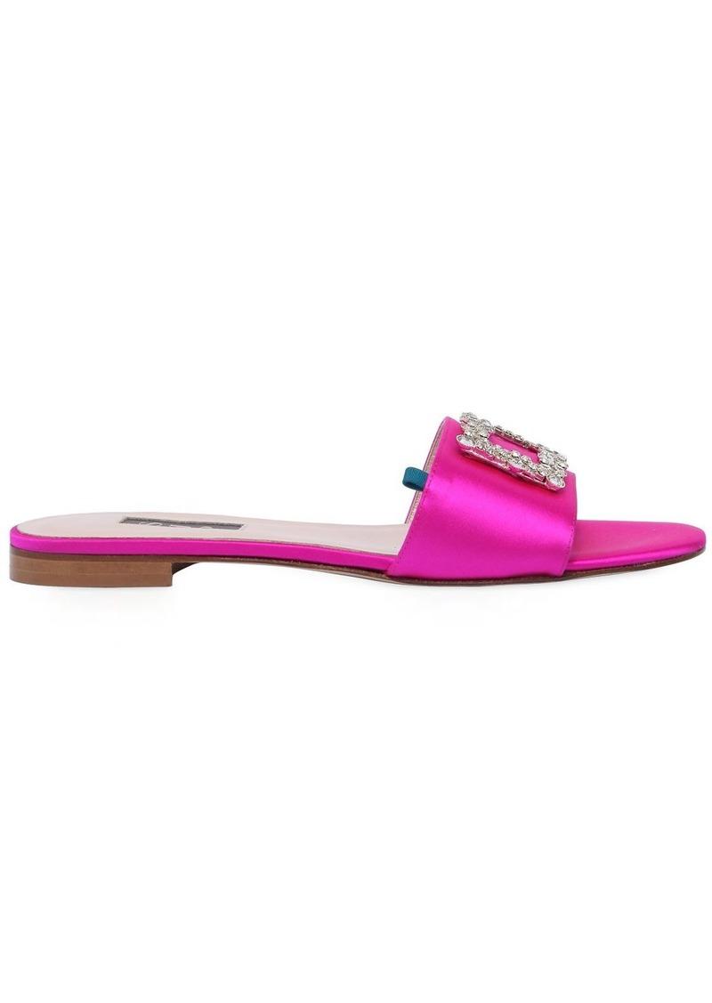 SJP 10mm Grace Embellished Satin Sandals