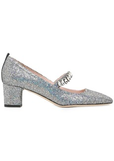SJP 50mm Dazzle Glittered Mary Jane Pumps