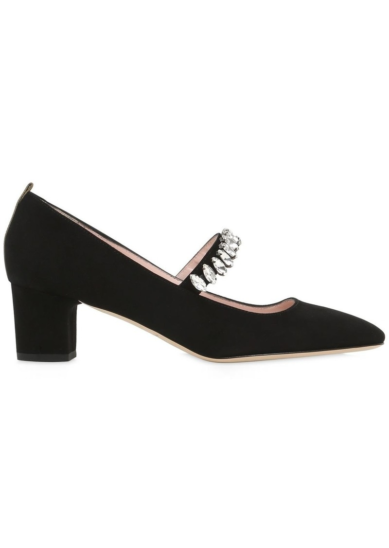 SJP 50mm Dazzle Suede Mary Jane Pumps