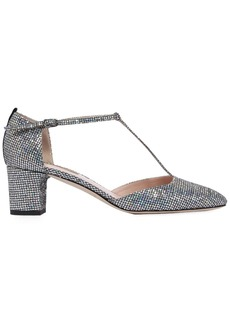 SJP 50mm Pet Glitter Fabric Pumps