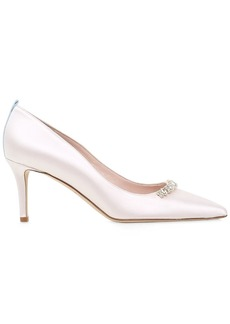 SJP 70mm Heirloom Embellished Satin Pumps