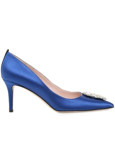 SJP 70mm Tempest Embellished Satin Pumps