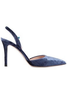 SJP 90mm Bliss Velvet Sling Back Pumps