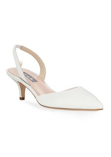 SJP Bliss Metallic Kitten-Heel Slingback Pumps