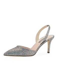 SJP Bliss Metallic Mesh-Net Evening Pump